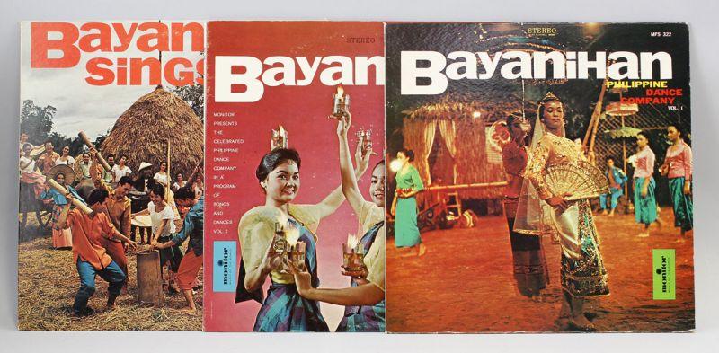 3 x Vinyl LP Bayanihan Philippine Dance Company Monitor Rec Folk Library 9980472
