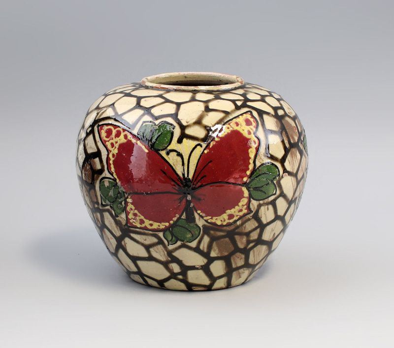 Jugendstil-Vase Schmetterling um 1900 99845020