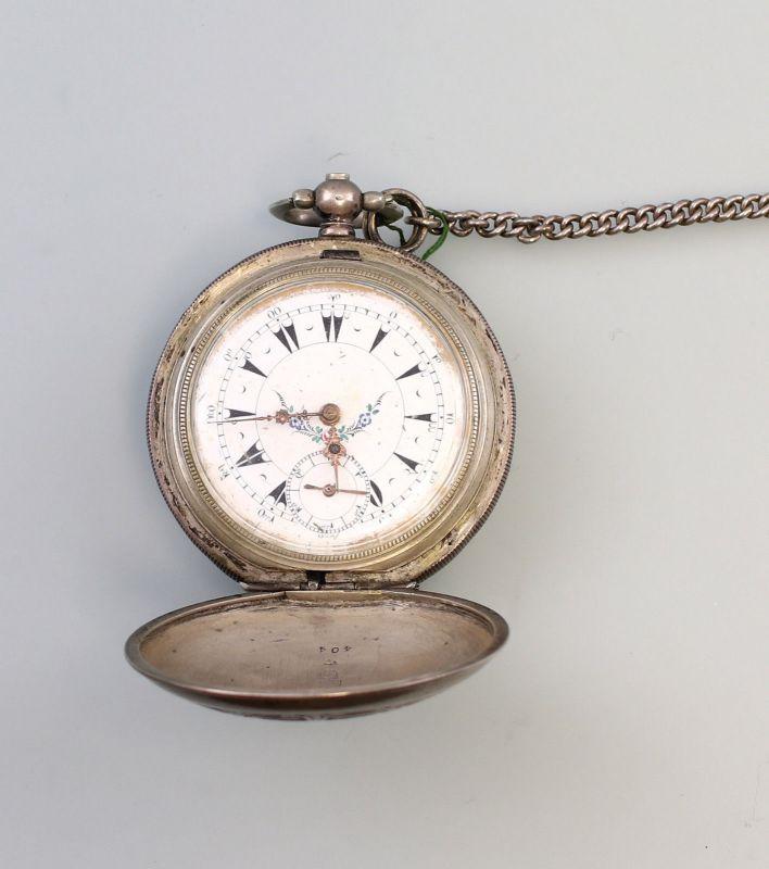 8120001 Silberne Schlüssel-Taschenuhr Savonette Osmanisches Reich 19.Jh.
