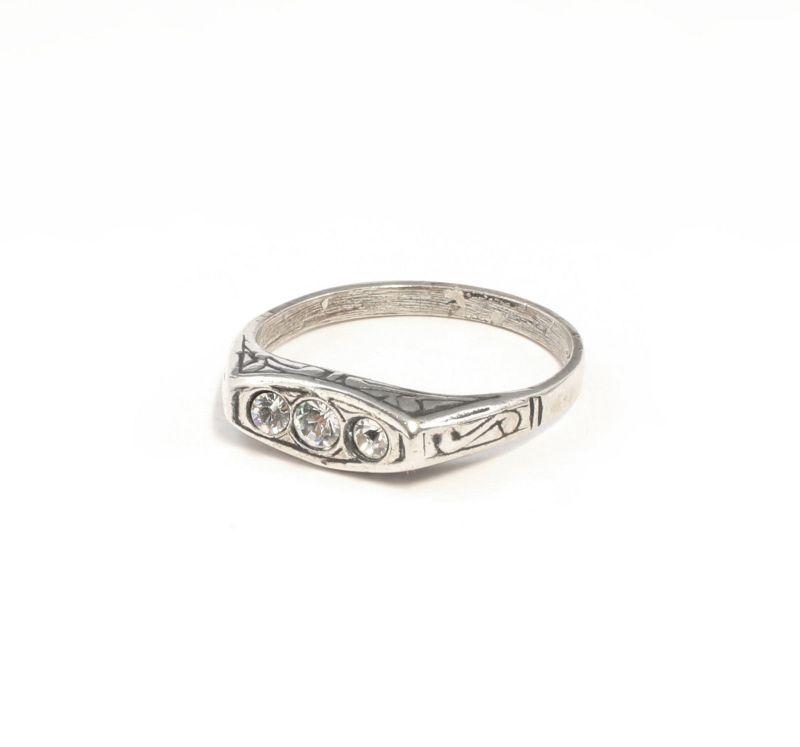 925er Silber Ring mit Swarovski-Steinen Gr. 54 Inka-Stil 9901386