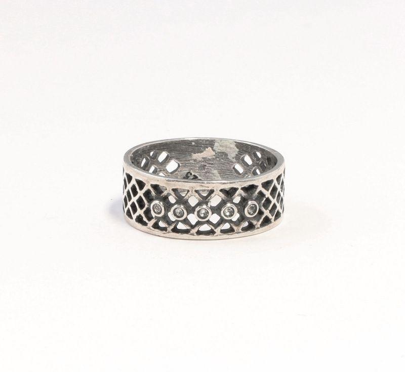 925er Silber Ring mit Swarovski-Steinen Gr. 54 9901359