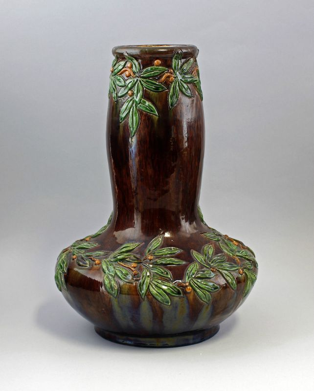Große Jugendstil-Vase Majolika 1900 Frankreich/Belgien? JUGENDSTIL 99845015