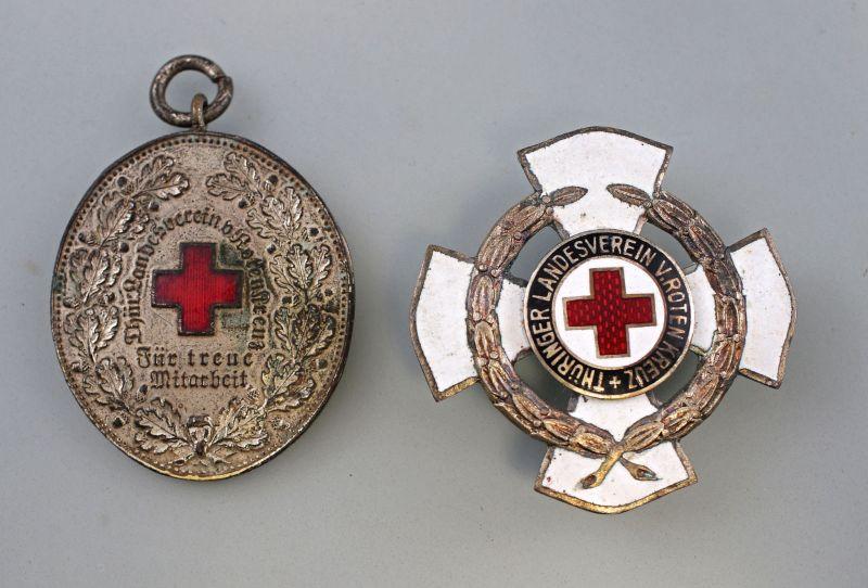 8290009 2 x Dienstauszeichnung des Thüringer Landesvereins vom Roten Kreuz
