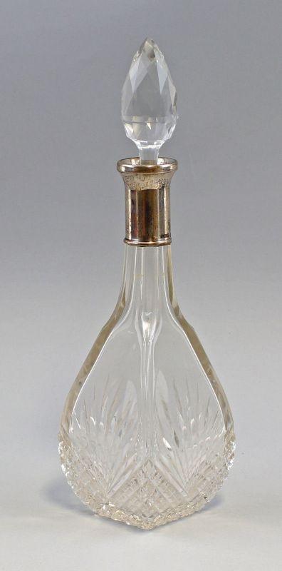 8230011 Kristall-Karaffe mit Silber-Montierung 800er Silber Heinrich Mau Dresden
