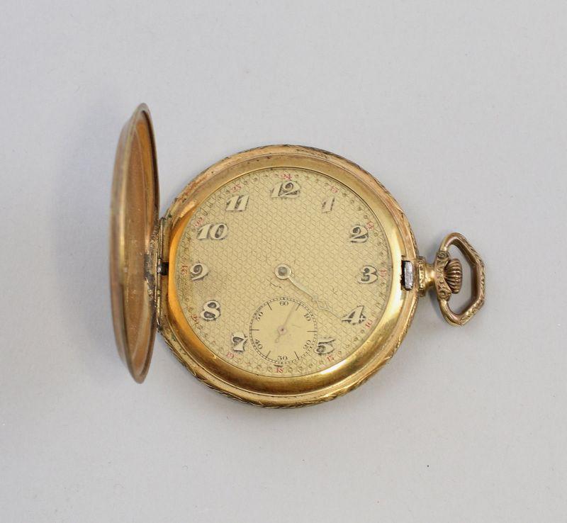 8220015 Vergoldete Savonette, Sprungdeckel-Taschenuhr  um 1930