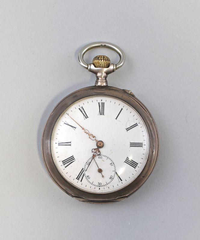 8220016 Silberne Taschenuhr um 1890 800er Silber
