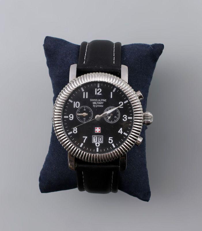8220023 Armbanduhr Chronograph Swiss Alpine Military by Grovana