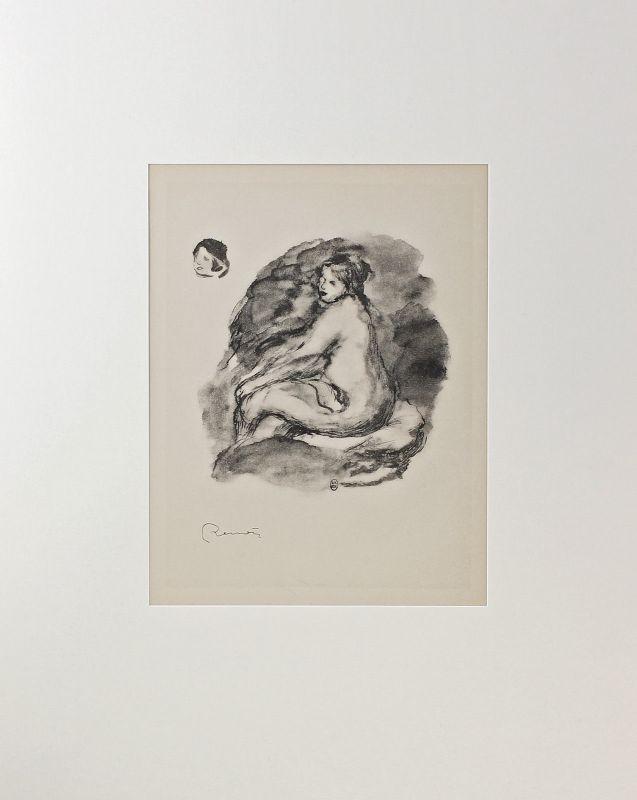 Offset-Repro nach Auguste Renoir Femme nue assise Editions Sauret 1951 99863088