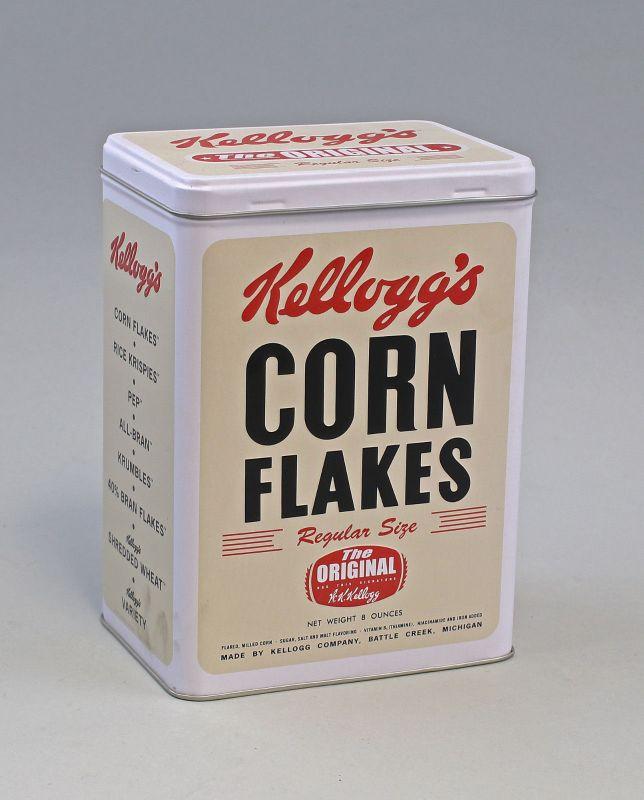 74055 Vintage Vorratsdose L Kellogg`s Corn Flakes Retro Package H20cm