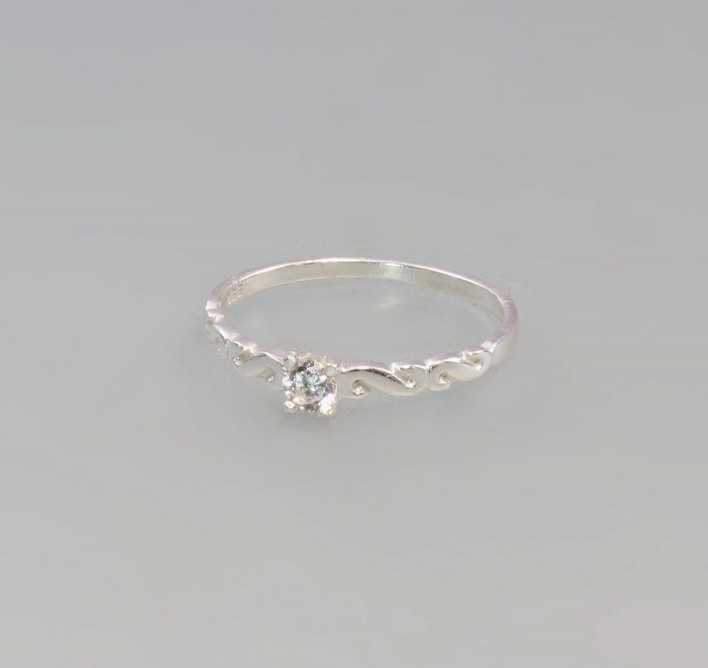 8225193 Ring mit weißem Stein 925er Silber Gr.57