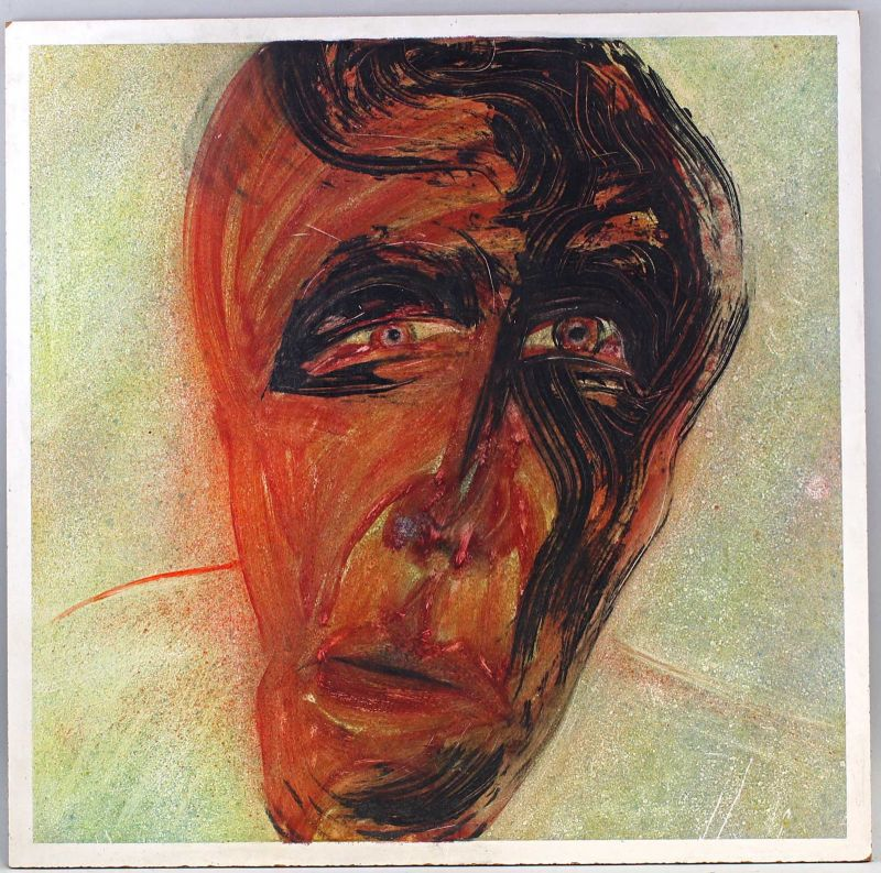 8260054 Öl-Gemälde sign. 1983 Kopf abstrakt modern