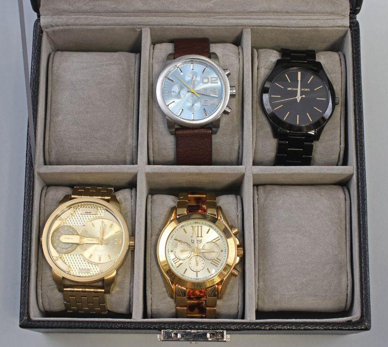8220024 4 Moderne Armbanduhren Diesel Chronograph bürgi Michael Kors