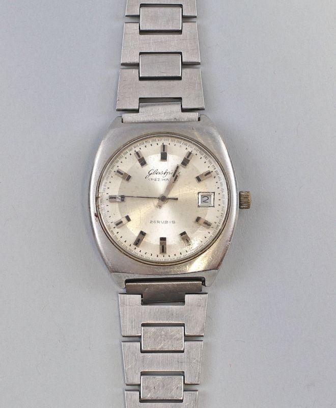 8220021 Herren-Armbanduhr Glashütte Spezimatic Ehrengeschenk SED