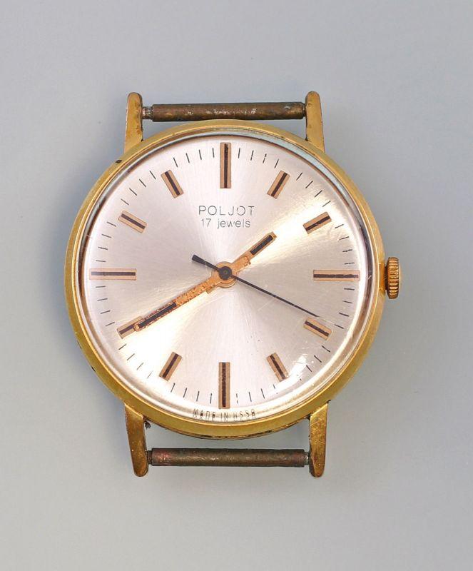 8220019 Vergoldete Armbanduhr Poljot Vintage Handaufzug