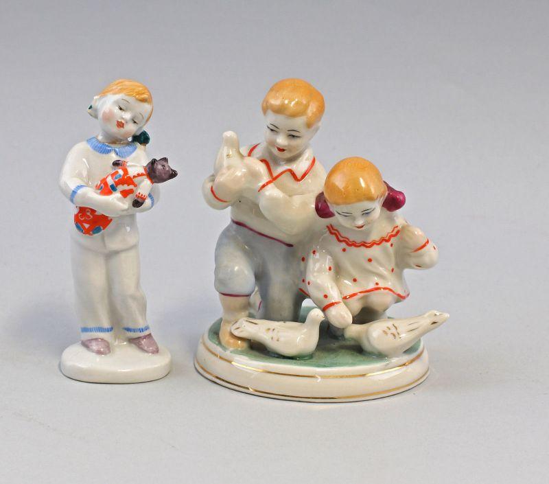 8240066 Zwei Porzellan-Figuren Kinder SHK Ukraine um 1960