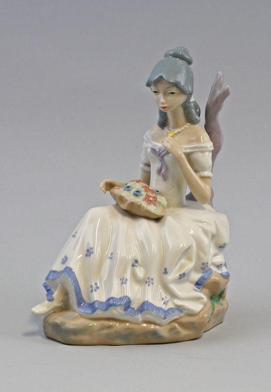 8240065 Porzellan-Figur Sitzendes Mädchen Casades Spanien