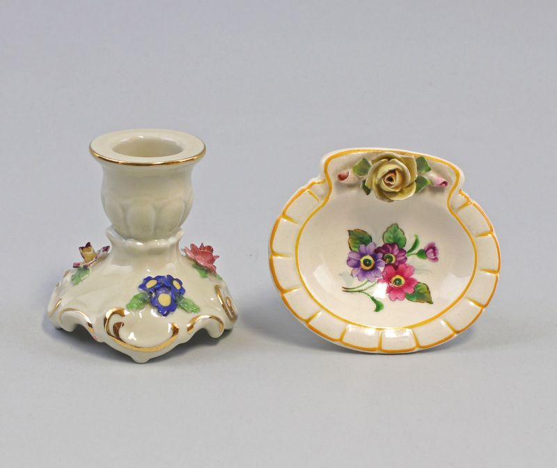 8240020 Porzellan Schale Kämmer + Leuchter Schierholz Thüringen Rosen