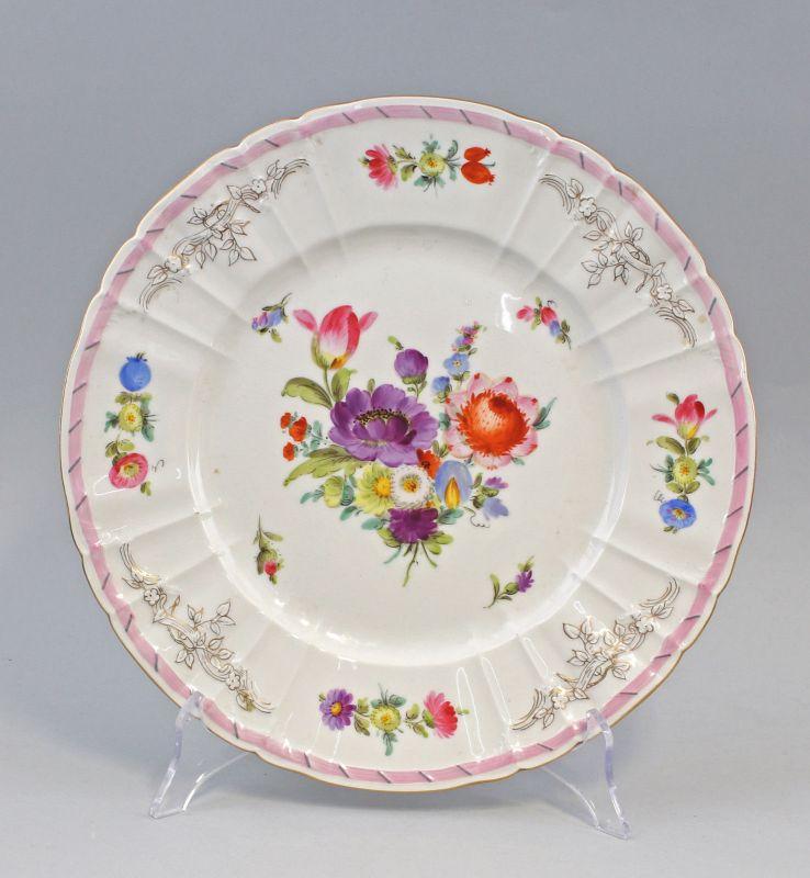 8240004 Porzellan Zier-Teller KPM Berlin florale Auglasurmalerei