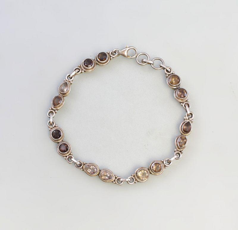 8225196 Armband mit verschiedenfarbigen Steinen 925er Silber