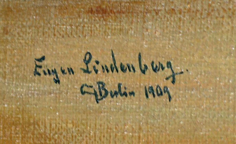 8260052 Öl-Gemälde sign. Eugen Lindenberg Früchte-Stillleben 1909 Melonen 1