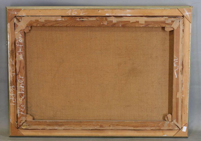 8260052 Öl-Gemälde sign. Eugen Lindenberg Früchte-Stillleben 1909 Melonen 2