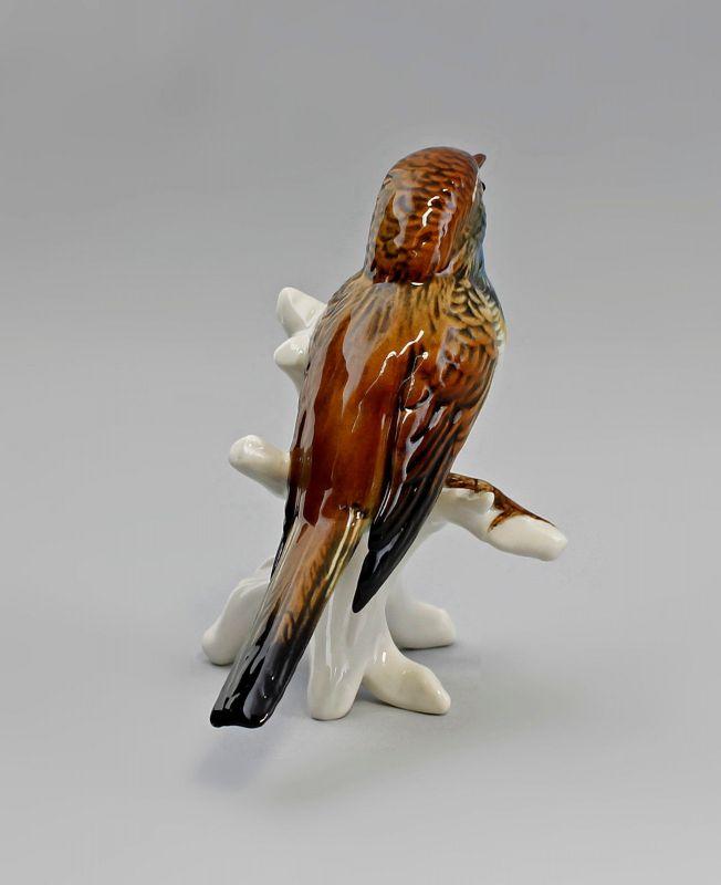 Porzellan Figur Blaukehlchen Vogel Ens 11x12x7cm 9941521# 3
