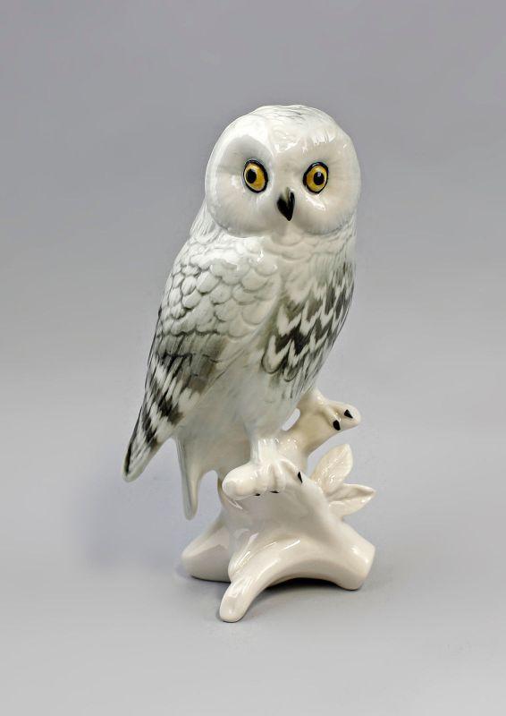 Porzellan Figur Schneeeule Eule Vogel Ens H16m 9941513#