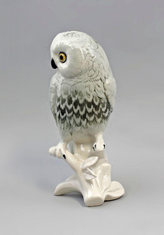 Porzellan Figur Schneeeule Eule Vogel Ens H16m 9941513# 1
