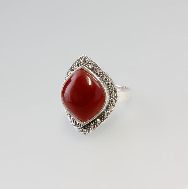 925er Silber Ring  rot  Neu Gr.57  9907174 0