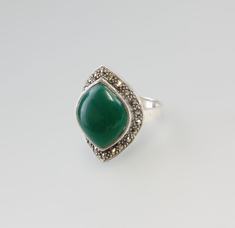 925er Silber Ring grün  Neu Gr.57,5  9907175