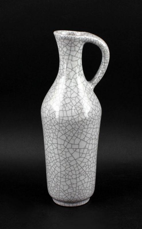 Vase Karlsruher Majolika grau glasiert  krakeliert 99845216 0