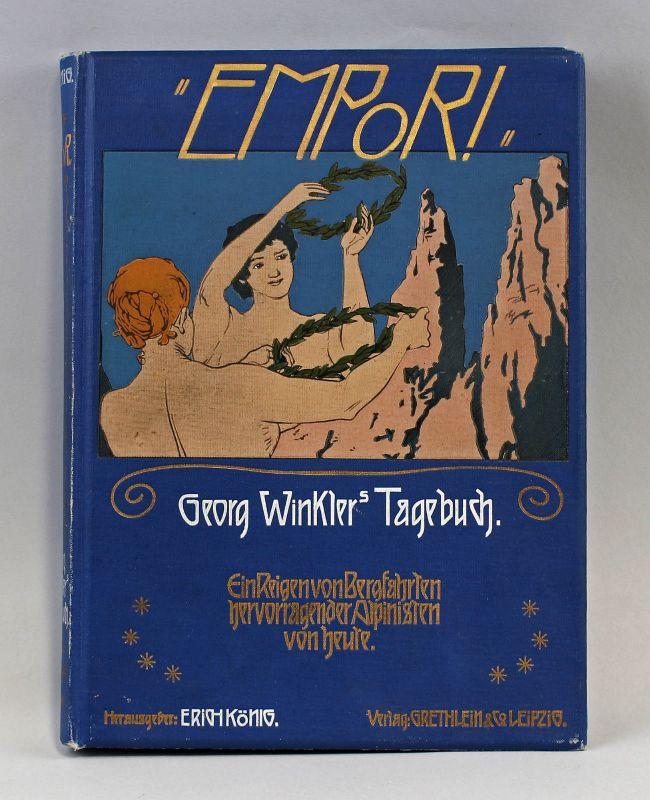 Georg Winkler s Tagebuch Empor! Alpinist Bergsteiger ca. 1910