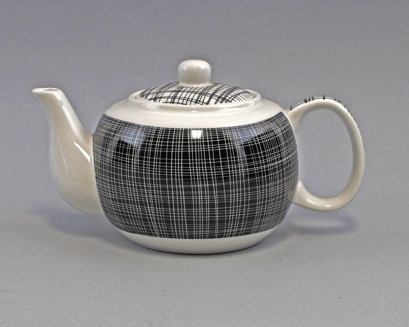 9952426 Tee-Kanne Brillantporzellan Nippon Linien schwarz 23x13cm 0,8L