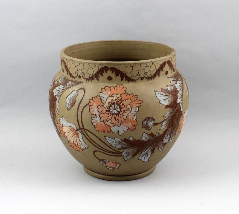 99845033 Keramik Übertopf Jugendstil um 1900