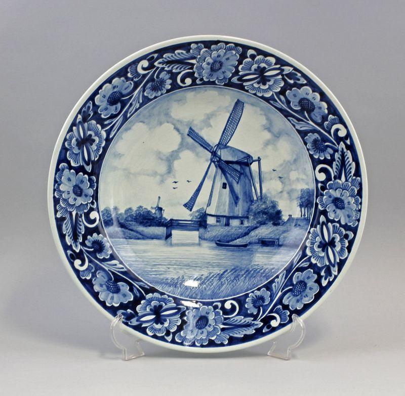 99845080 Teller Blaudekor Niederrhein Windmühle