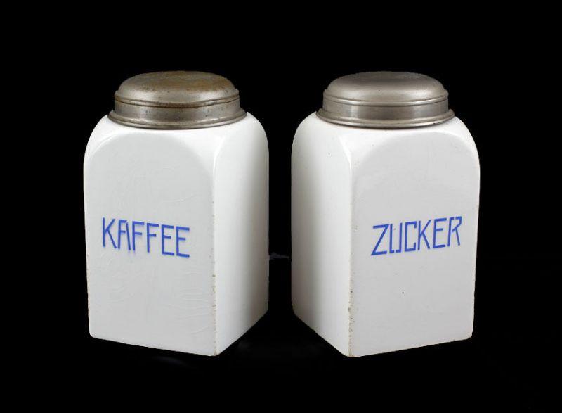 99845056 Paar Keramik Vorrats-Dosen Zucker Kaffee Modell Alex
