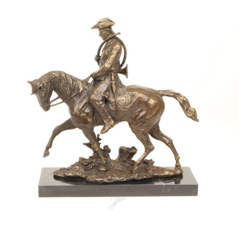 9937074-dss Bronze Skulptur Figur Louis XV auf Pferd Reiter 39x40,5cm