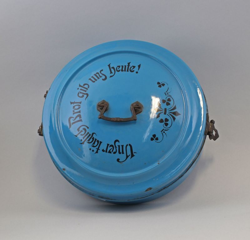 Runde Emaille - Brotdose um 1920/30 99880046