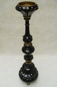 9937557-dss Messing Keramik Leuchter Kerzenständer H93cm