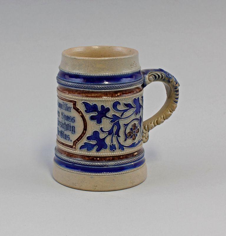 Relief-Bierkrug Bier-Humpen kobalt Westerwald 99848032