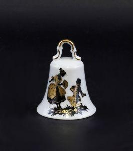 Porzellan Tischglocke mit Watteau-Szene Lindner Bayern 9986072