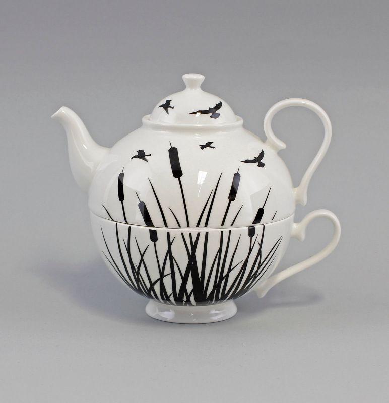 PorzellanTeegarnitur Tea for one Set Schilf Jameson&Tailor 9952325