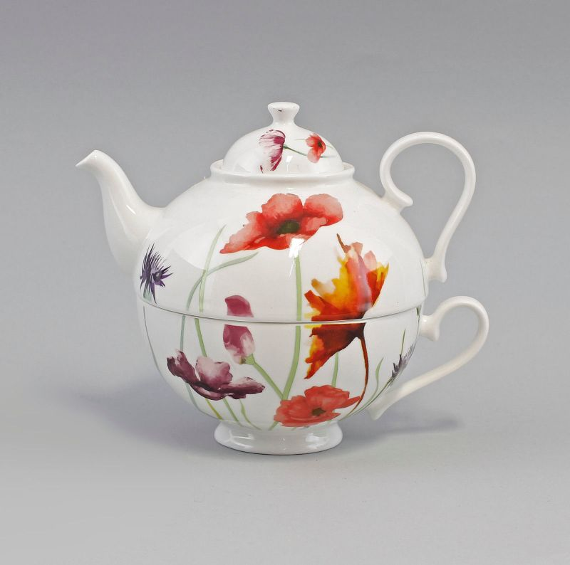 PorzellanTeegarnitur Tea for one Set Mohnwiese Jameson&Tailor 9952324