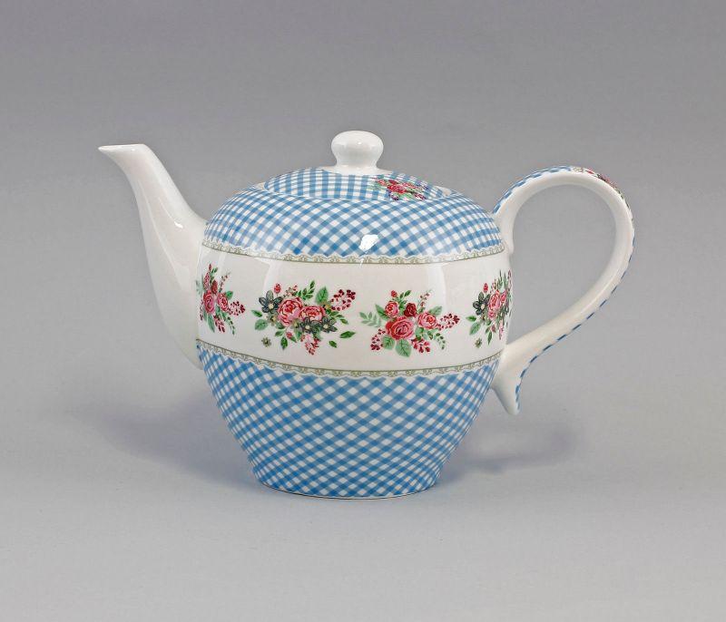 Porzellan modern Tee-Kanne Dekor