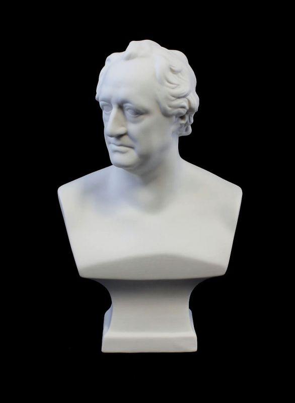 9944114 Porzellan Figur Büste Goethe bisquit Kämmer H25cm