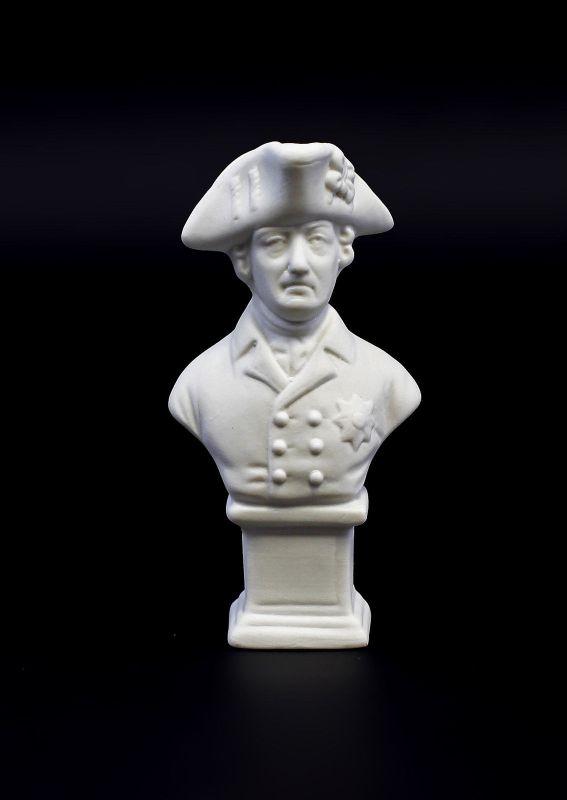 Kämmer Porzellanfigur Friedrich II Büste Alter Fritz klein Bisquit H11cm 9944283