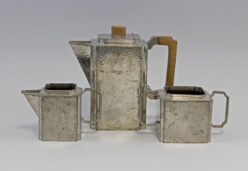Kaffee- / Tee-Kernstück Zinn Cooper Brothers Sheffield Art déco um 1930 99833137
