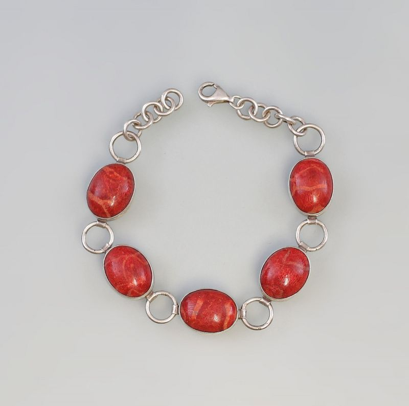 8025166 Korallen-Armband 925er Silber
