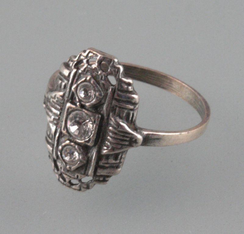 Art déco - Ring mit Swarovski-Steinen Gr.55  9901142