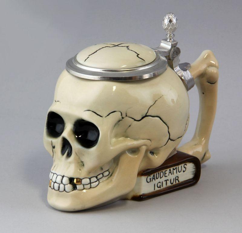 Totenkopf-Bierhumpen Porzellan Ernst Bohne H15cm #9941080